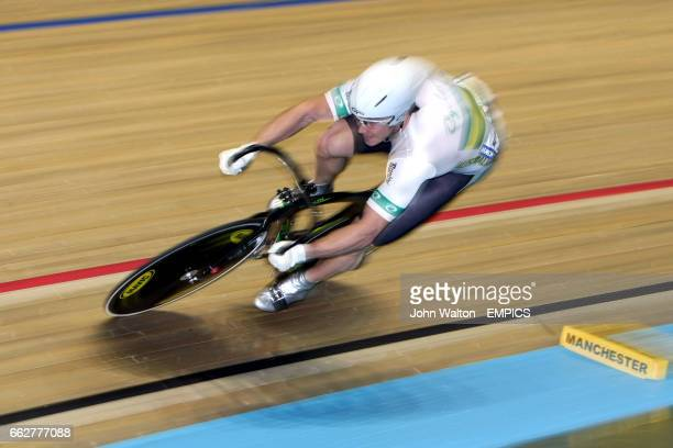 Australia's Mark French in the men's sprint qualifying