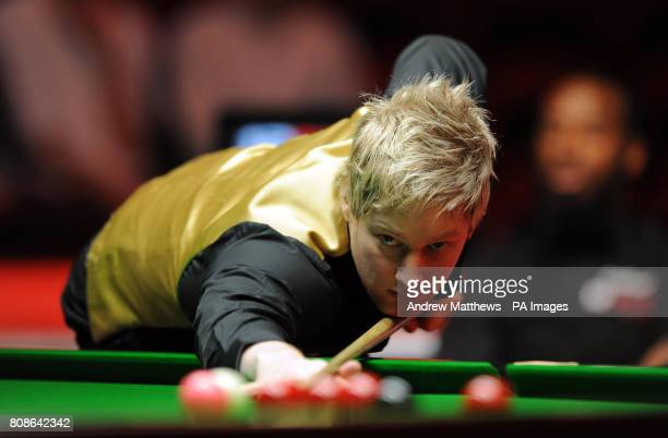 Australia's Neil Robertson during his match against England's Rory McLeod during the 12BetCom UK Championships at the Telford International Centre...