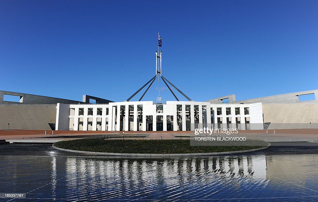 Australia's Parliament House in Canberra on September 7 2010 Australian Prime Minister Julia Gillard retained power by a tiny oneseat majority after...