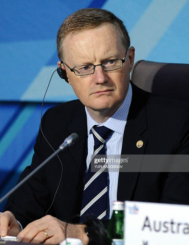 Australia's Reserve Bank Deputy Governor, Philip William Lowe, attends a meeting of G20 states finance ministers and central bank governors' deputies attend their meeting in Moscow, on February 16, 2013. The ministers and central bank governors' deputies gathered today in Moscow for their first meeting in the Russian capital aimed at reassuring markets that the world's economic powers would not slug it out in 'currency wars' to boost national growth.