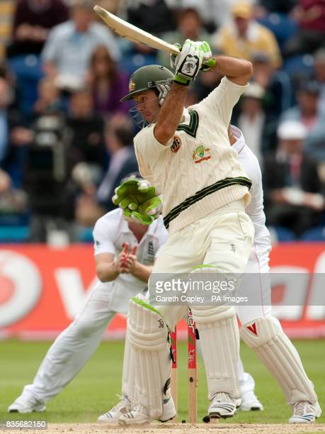 Australia's Ricky Ponting bats during day two of the first npower Test match at Sophia Gardens Cardiff