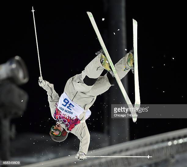 Australia's Sam Hall competes in qualifying of the men's moguls at Rosa Khutor Extreme Park during the Winter Olympics in Sochi Russia Monday Feb 10...