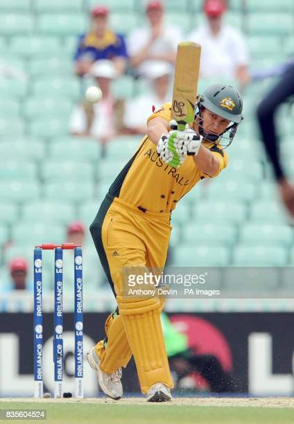 Australia's Shelley Nitschke bats during the ICC Women's World Twenty20 Semi Final at The Oval London