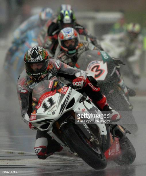 Australia's Troy Corser rounds the Esses during race two of the SBK World Superbikes at Donington Park Castle Donington Derbyshire