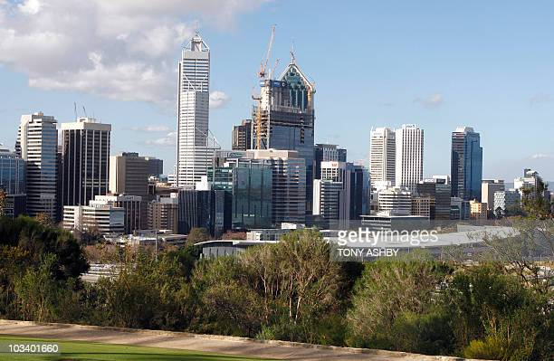 AustraliavoteminingPerthFOCUS by Andrew Pascoe This photo taken on August 5 2010 shows the Perth central business district skyline viewed from King's...