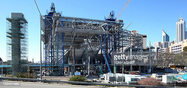 AustraliavoteminingPerthFOCUS by Andrew Pascoe This photo taken on August 5 2010 shows the Perth Arena under construction in a prime location and...
