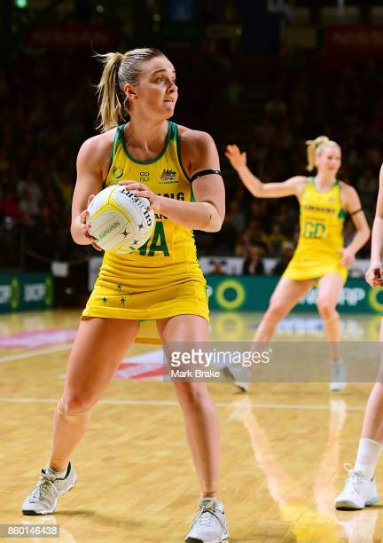 Australi's wing attack Liz Watson during the 2017 Constellation Cup match between the Australia Diamonds and New Zealand Silver Ferns at Titanium...
