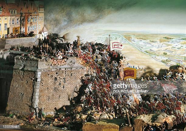 Austria 17th century Turkish Kara Mustafa troops lay siege to Vienna 1683 Diorama