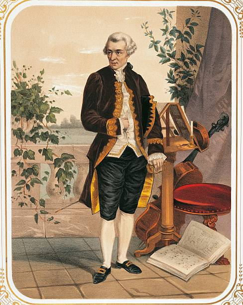 Austria Vienna Portrait Of Franz Joseph Haydn Color Print
