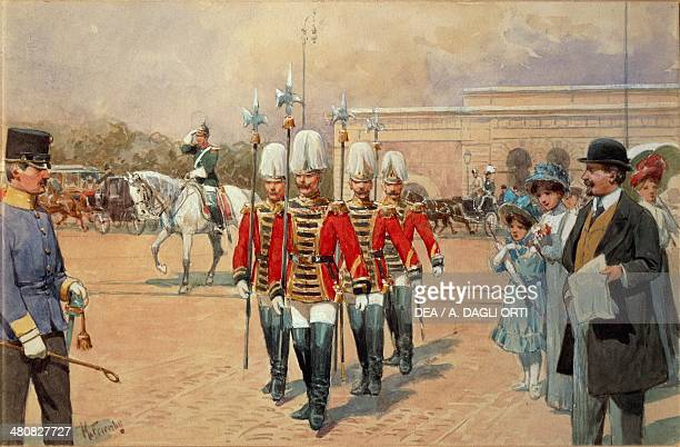 Austria 19th century Vienna Imperial Guard Watercolor Vienna Historisches Museum Der Stadt Wien