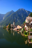 Austria, Hallstatt Village and Hallstatter See lake