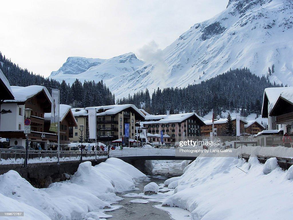 Austria. Lech am Arlberg : Stock Photo