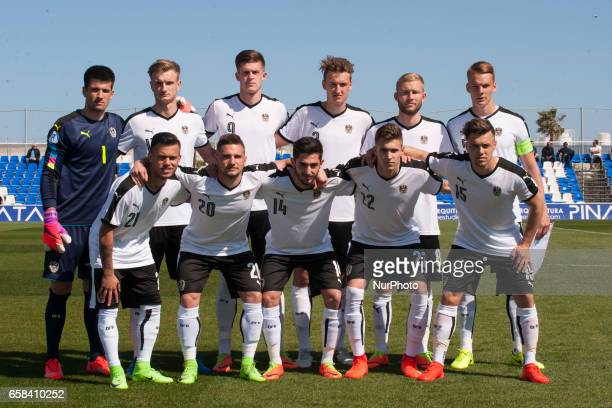 Austria line up during the friendly match of national teams U21 of Austria vs The Netherlands in Pinatar Arena Murcia SPAIN March 27th 2017