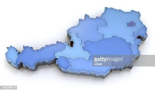 Österreich Karte mit Regionen