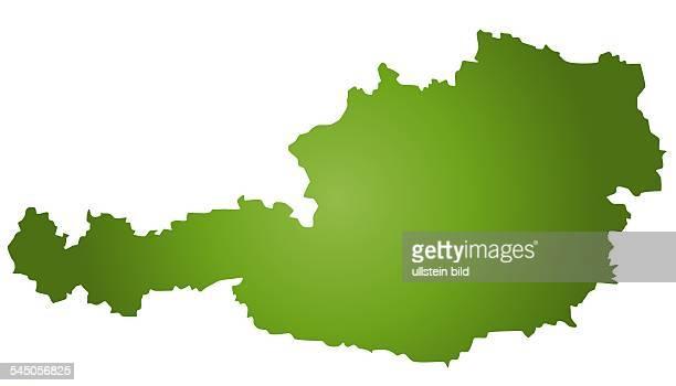 silhouette map of Austria
