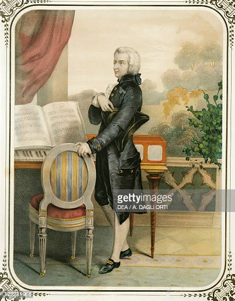Austria Standing portrait of Wolfgang Amadeus Mozart Austrian composer print
