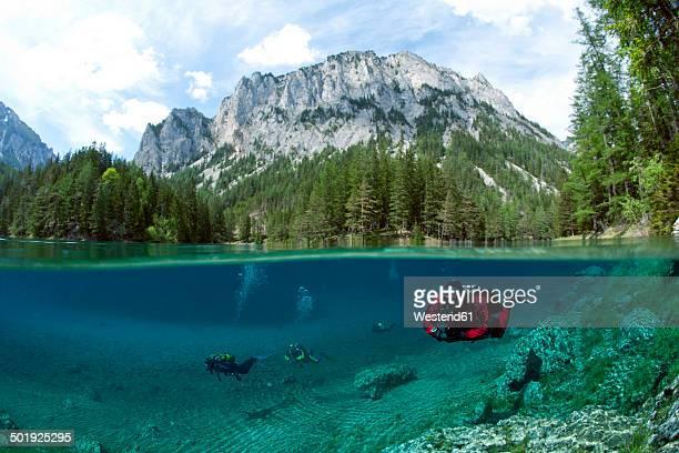 Austria, Styra, Tragoess, Green Lake, Divers