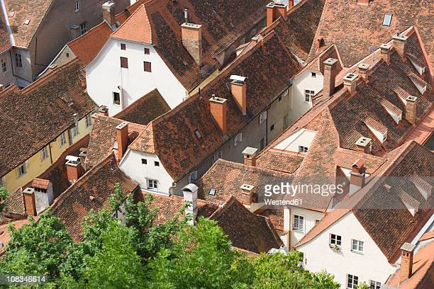Austria, Styria, Graz, Roof tops of old town, elevated view