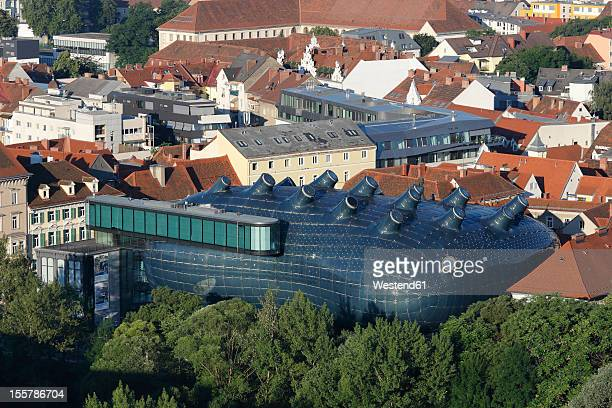 Austria, Styria, Graz, View of museum and contemporary art