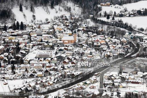 Austria, Styria, View of Schladming town