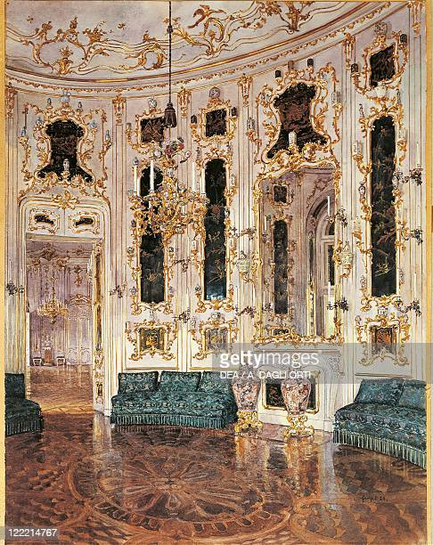 Austria The Chinese room in Schonbrunn Palace Vienna print
