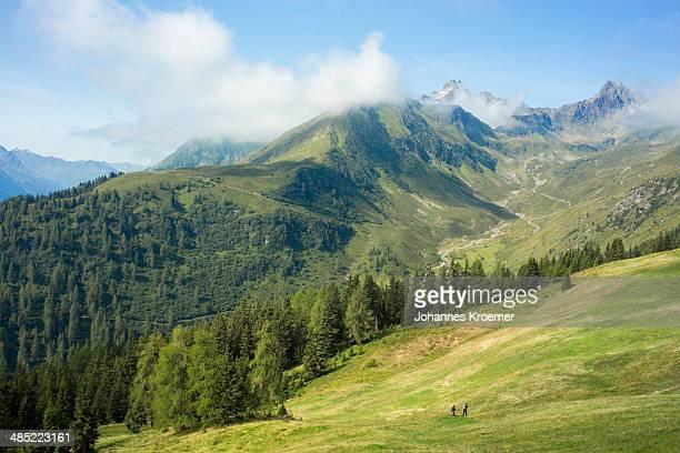 Austria, Tirol, Kappl, View to mountain valley