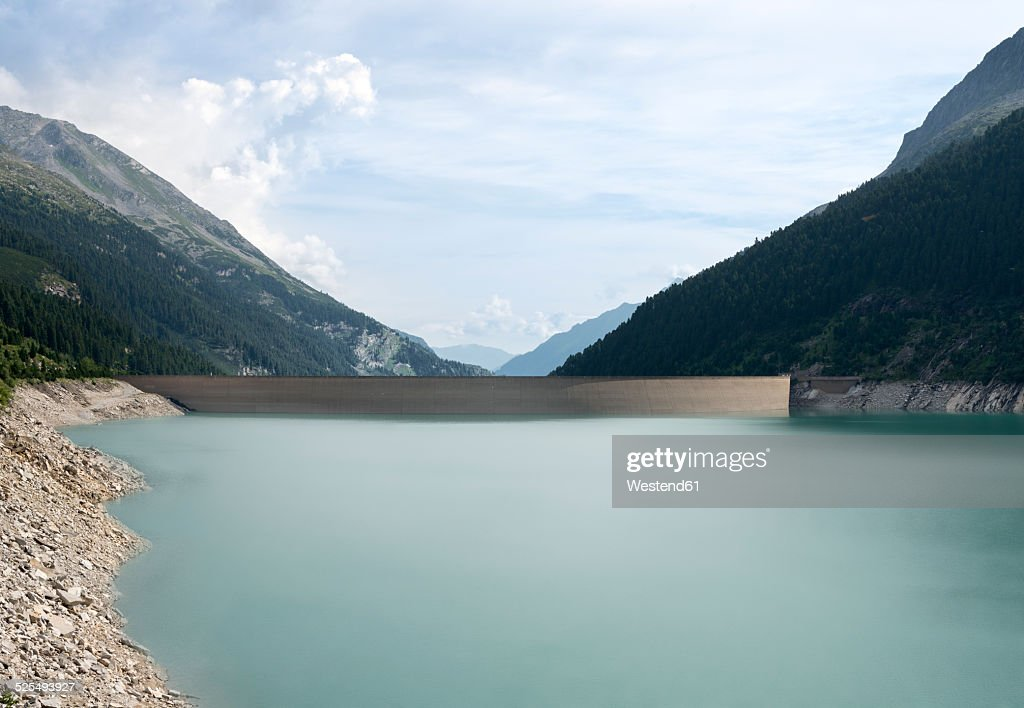 Austria, Tirol, Zillertal, Schlegeis-reservoir