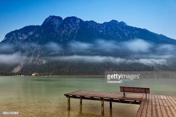 Austria, Tyrol, Achenkirch, jetty at Lake Achensee