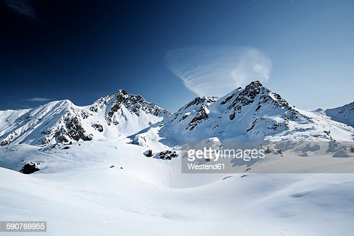 Austria, Tyrol, Ischgl, winter landscape in the mountains