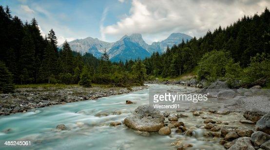 Austria, Tyrol, Karwendel Mountains, Risstal, Rissbach stream in Eng