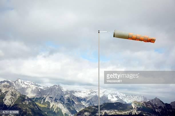 Austria, Tyrol, Karwendel mountains, Wind sack in mountains