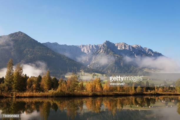 Austria, Tyrol, Lake Walchsee in autumn