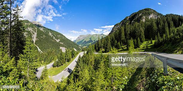 Austria, Tyrol, Mountain pass to Hahntennjoch, Panorama