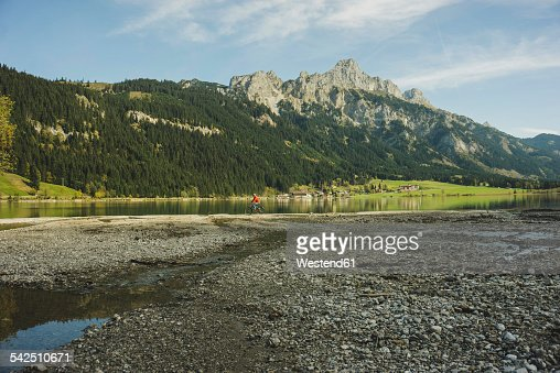 Austria, Tyrol, Tannheimer Tal, mountainscape with lake
