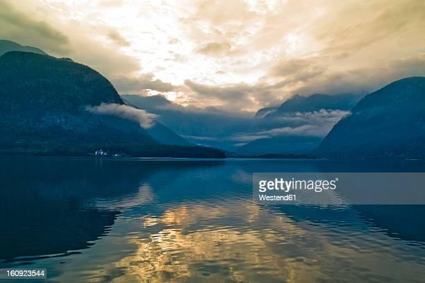 Austria, Upper Austria, View of Hallstatt Lake