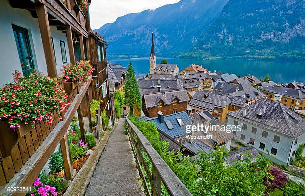 Austria, Upper Austria, View of village