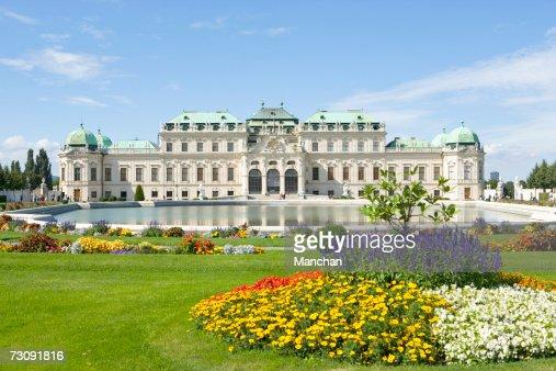 Austria, Vienna, Belvedere Palace and gardens