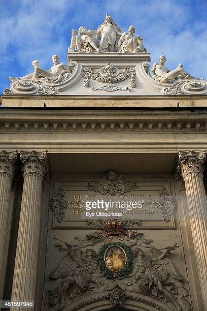 Austria Vienna Detail of the Michaelertrakt the southern gateway into the Hofburg Palace