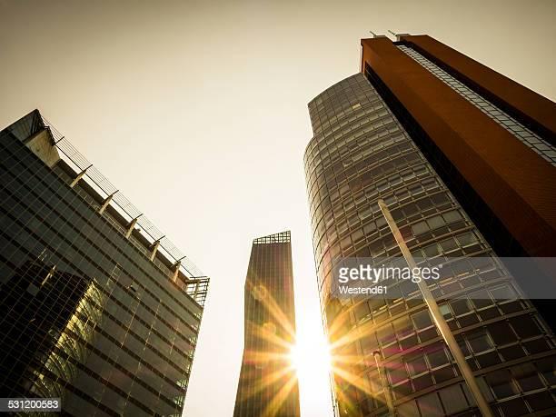 Austria, Vienna, Donau City, STRABAG-Haus, DC Tower 1 and Andromeda Tower