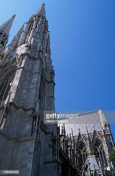 Austria, Vienna, low angle view of Votive church