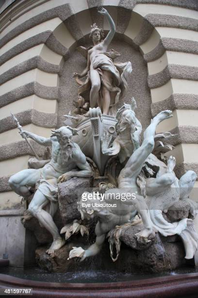 Austria Vienna Michaelertrakt the southern gateway into the Hofburg Palace The statues and figures include Heracles the greatest of the Greek heroes...