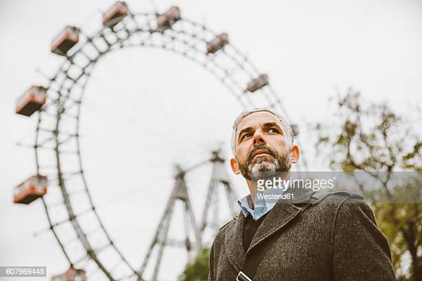 Austria, Vienna, portrait of businessman at Prater