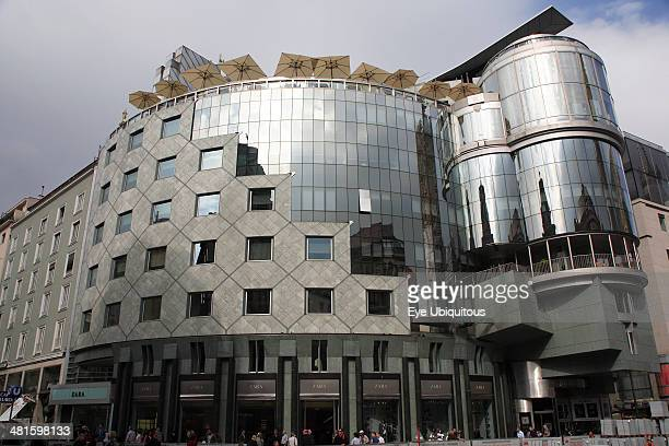Austria Vienna The Haas Building or Haas Haus Modern glass fronted and concrete office building in Saint Stephens Square