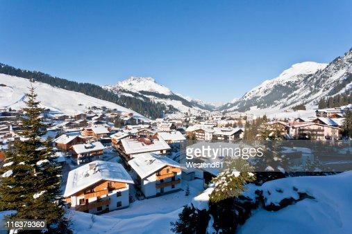 Austria, Vorarlberg, View of lech am arlberg