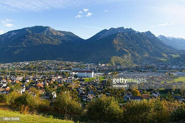 Austria, Vorarlberg, View of Mattersburg and Breithorn mountains