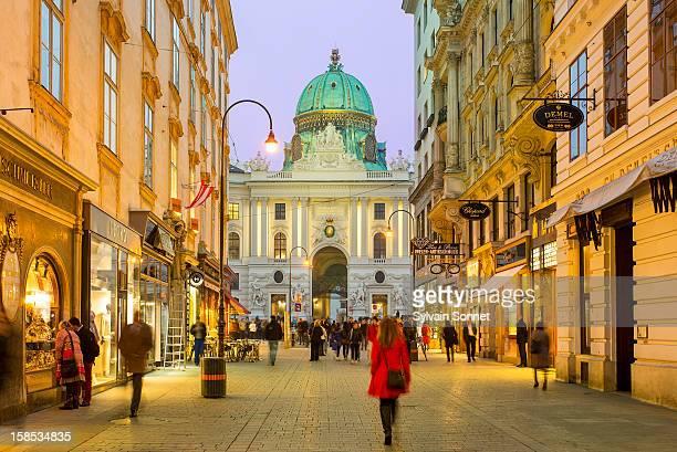 Austria, Wien State, Vienna, Kohlmarkt and Hofburg