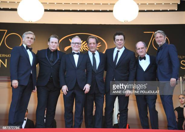Austrian actor Christoph Waltz French actor Benoit Magimel French actor Vincent Lindon Puerto Rican actor Benicio del Toro and Danish actor Mads...