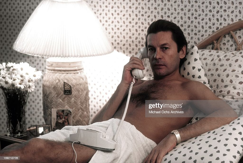 Austrian actor Helmut Berger poses for a portrait at The Chateau Marmont Hotel in November, 1983 in Los Angeles, California.