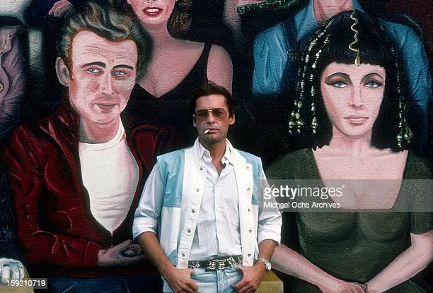 Austrian actor Helmut Berger poses for a portrait in Hollywood in February 1984 in Los Angeles California