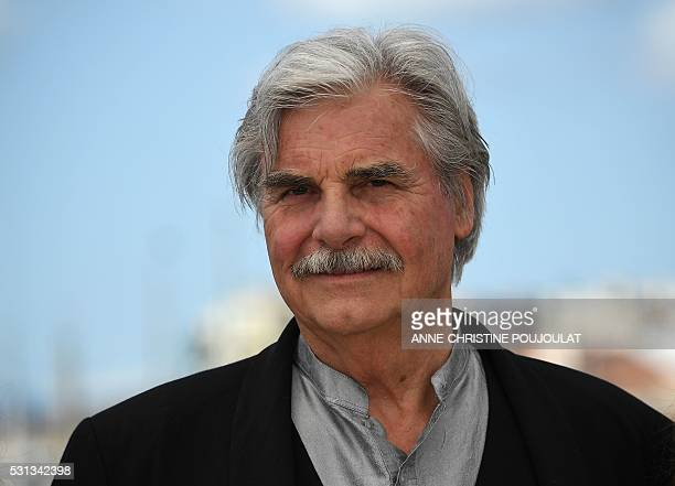 Austrian actor Peter Simonischek poses on May 14 2016 during a photocall for the film 'Toni Erdmann' at the 69th Cannes Film Festival in Cannes...